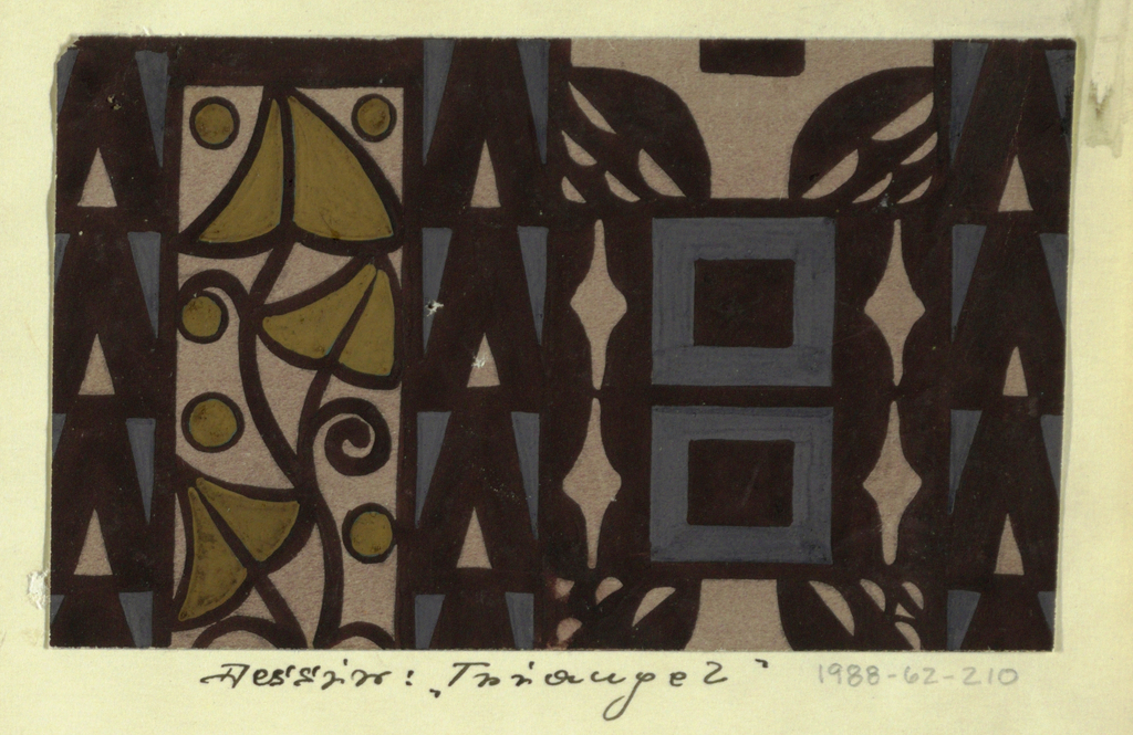Drawing, Textile Design: Triangel (Triangle)