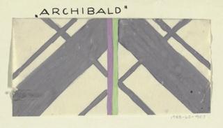 Diamond pattern in gray, green, purple, and white.