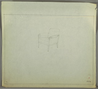 Drawing, Armchair: Wood, Upholstered, ca. 1934