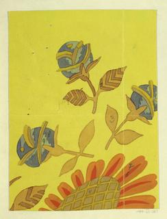 Drawing, Textile Design: Sommerblume (Summer Flower)