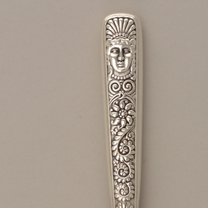 """Assyrian Head"" pattern Cheese Scoop, 1885–86"