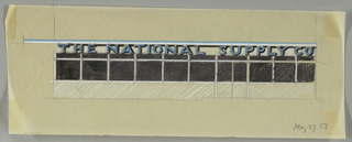 Elevation of an entrance to THE NATIONAL SUPPLY CO.