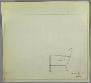 Drawing, Armchair: Metal, Upholstered, ca. 1934