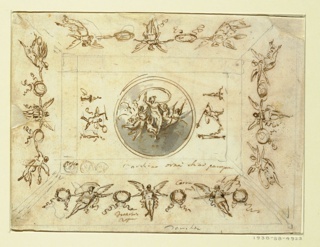 Drawing, Design for Ceiling with Aurora as the Central Motif