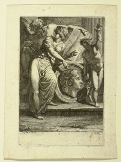Drawing, Etching: Frontispiece or dedicatory page