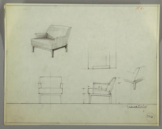 Drawing, Armchair, Wood, Upholster