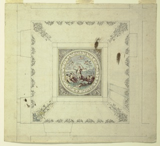 Drawing, Design for Ceiling with Triumph of Galatea