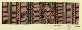 Drawing, Textile Design: Cypern
