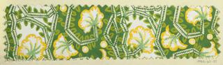 Drawing, Textile Design: Diskus (Discus)