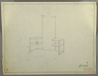 Drawing, Vanity with Tall Mirror, ca. 1930s