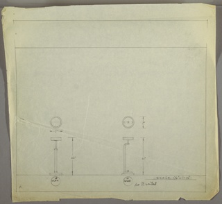 Drawing, Lamps: Metal, Two Designs