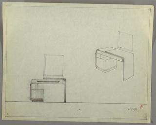 Drawing, Vanity/ Rectangular Mirror, ca. 1930s