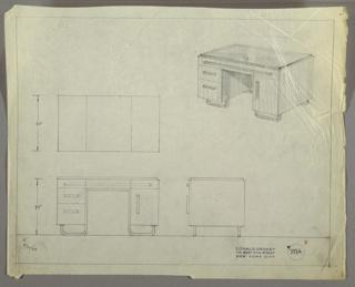 Drawing, Desk, September 30, 1933