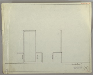 Drawing, Design for Vanity
