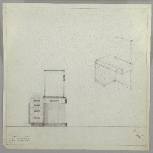 Drawing, Design for Vanity with Rectangular Mirror, 1934–1935