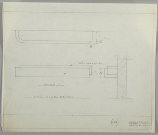 Drawing, Drawer Pull, early 20th century