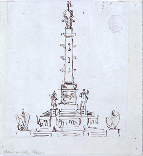 Drawing, Victory monument