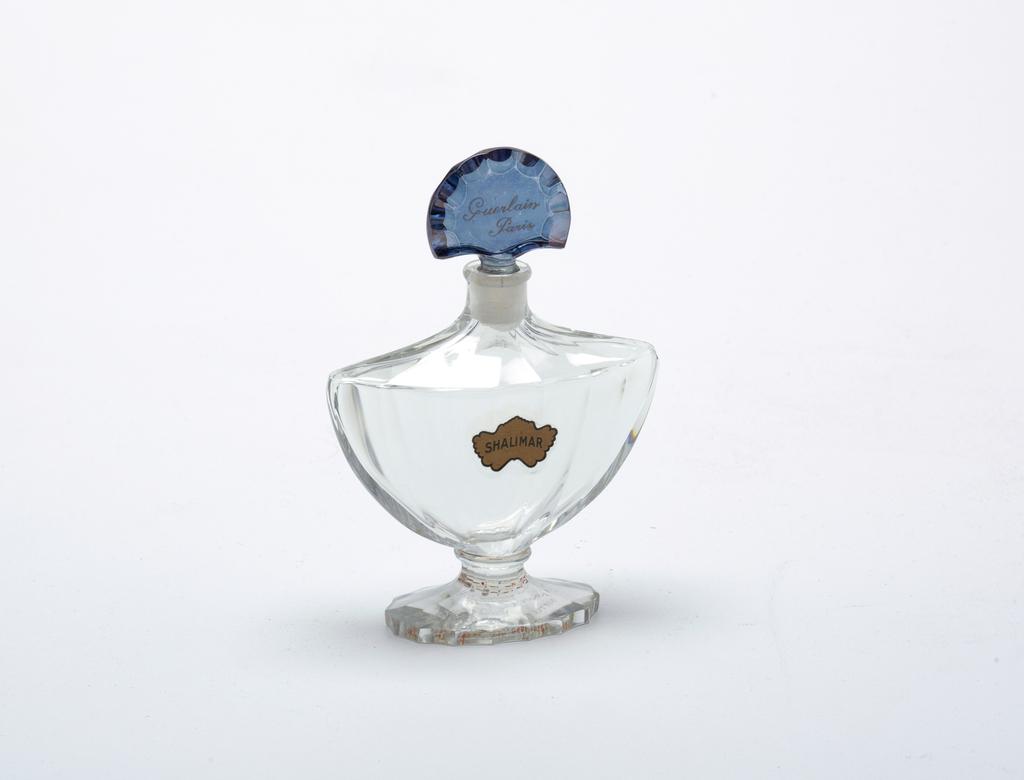 Clear glass perfume bottle