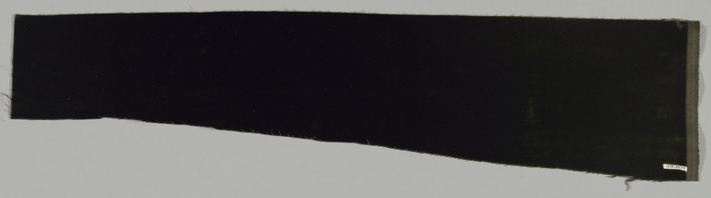 Solid black cut velvet with cotton backing.