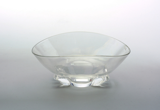 Oblong shaped clear glass