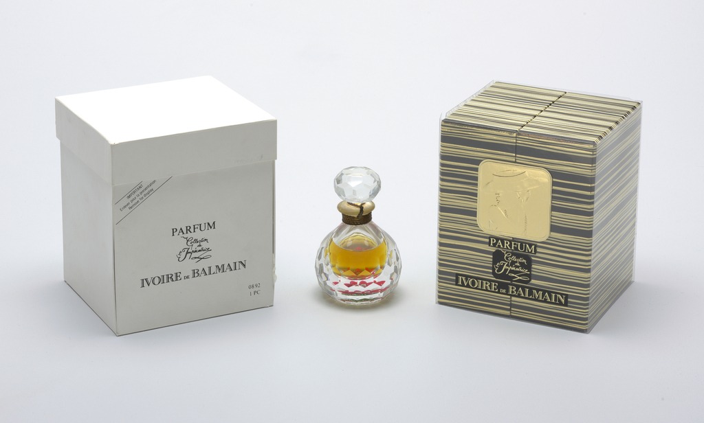 """""""Ivoire"""" by Balmain Perfume Bottle And Stopper, 1990"""