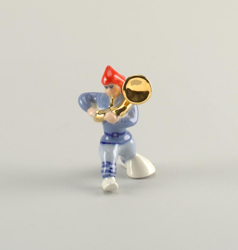 Man Playing Baritone Horn Figure