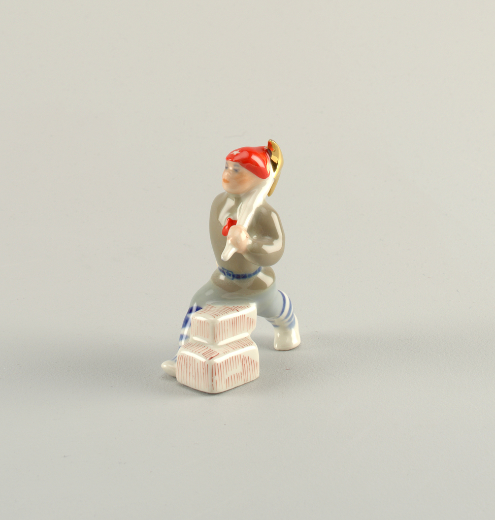 Man with Pick Axe Figure