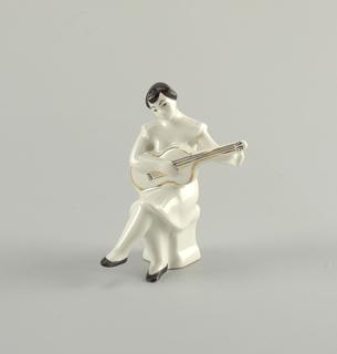 Girl Playing Guitar Figure