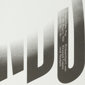 "Text ""FUTURE ISLANDS"" printed in bold, black letters on white background.  A white circle obscures the text in the center of the poster."