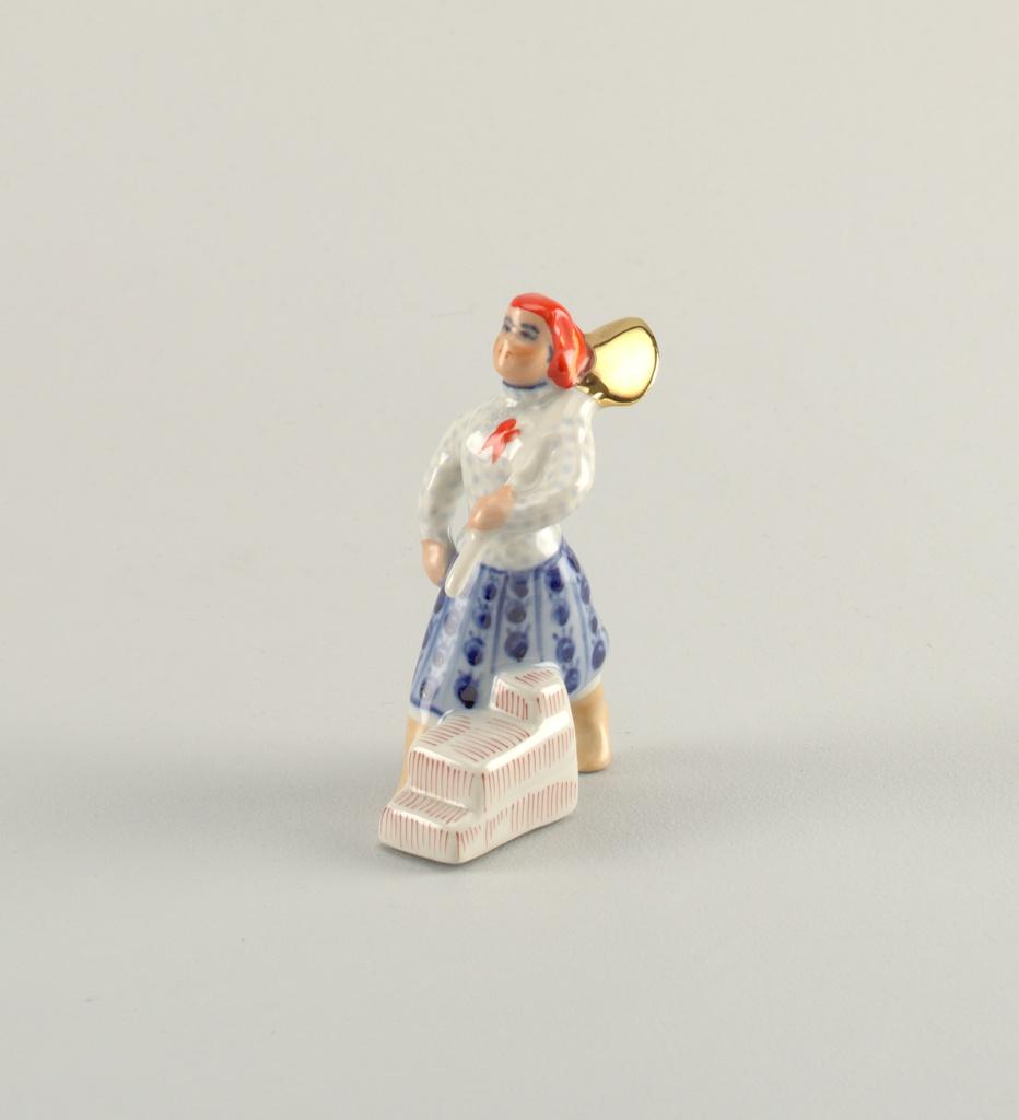 Woman with Shovel Figure