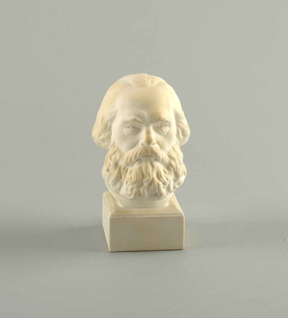Head of Marx with a beard, on square base