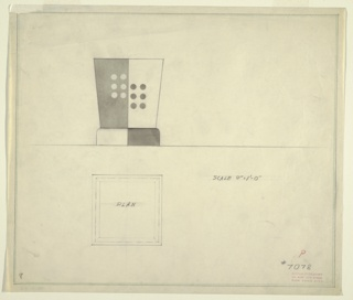 Drawing, Design for Wastebasket or Table Lamp