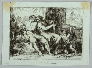 Drawing, Hercules and Iole, 1813