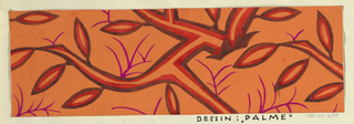 Drawing, Textile Design: Palme