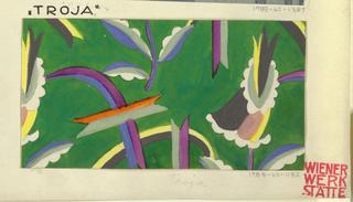 Drawing, Textile Design: Troja, 1912–17