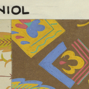 Drawing, Textile Design: Staniol (Tinfoil)