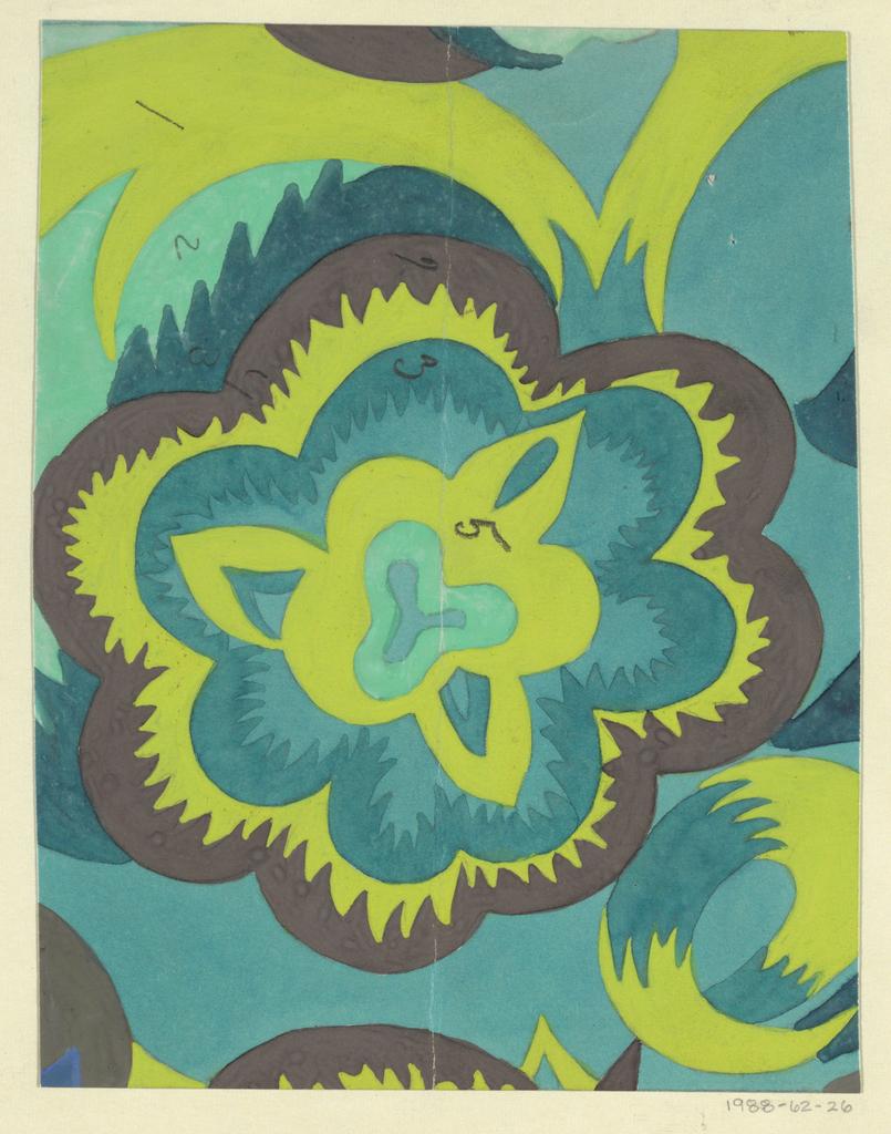 Drawing, Textile Design: Flora, 1911–14