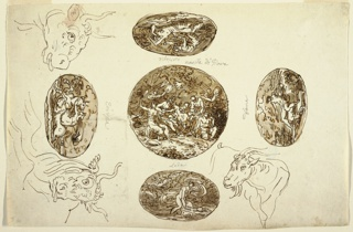 Drawing, Deeds of Jupiter, for a Ceiling