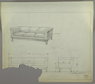 Drawing, Sofa