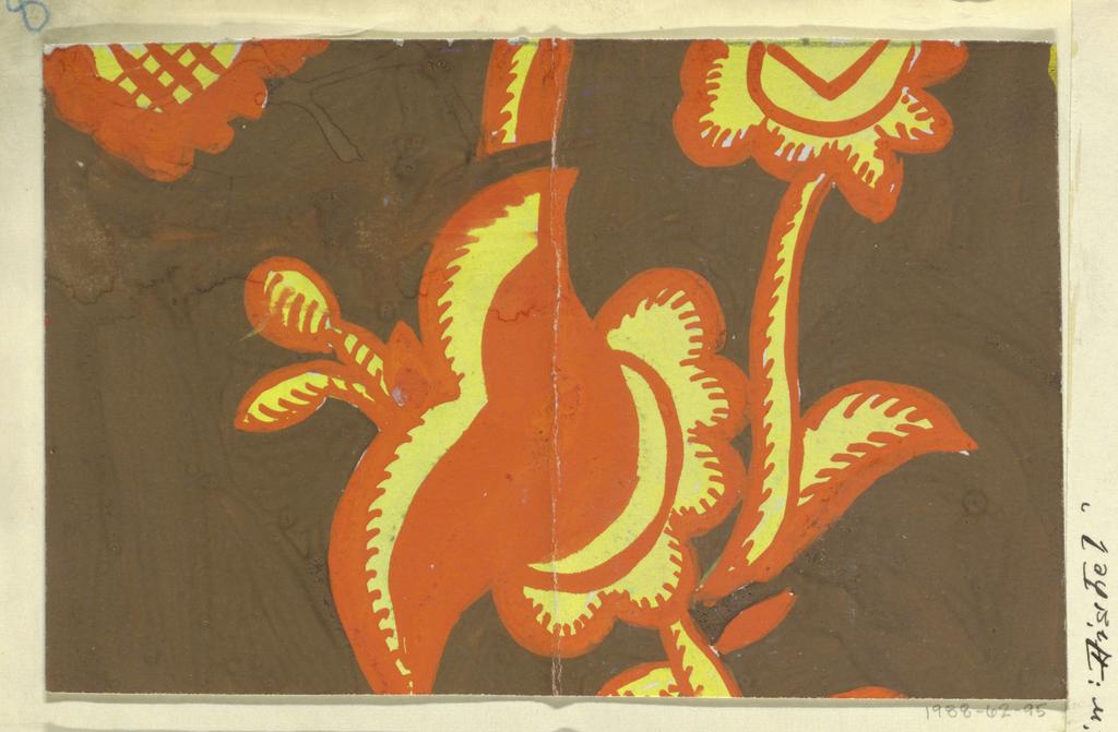 Drawing, Textile Design: Distel (Thistle), 1910–17