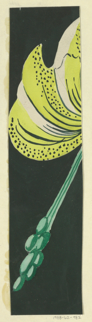 Floral pattern in yellow, green, and black.