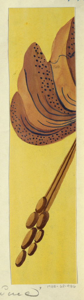 Floral pattern in yellows and browns.