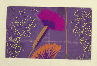Drawing, Textile Design: Gartenstrauß (Garden Bouquet)