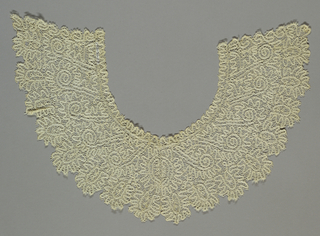 Peasant-style lace.