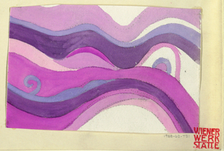 Wave pattern in pinks, purples, and white.