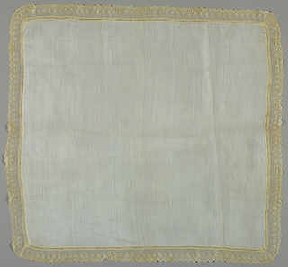 Handkerchief made in Lille-style edging.