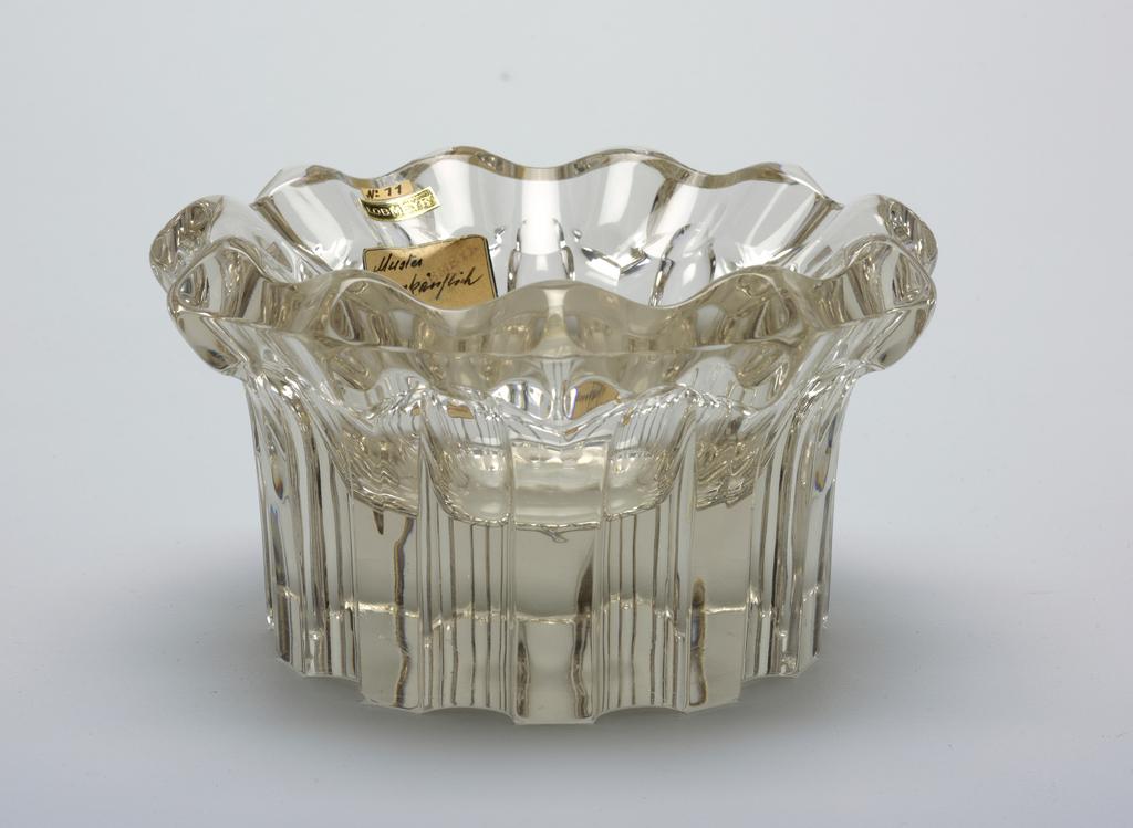 Elaborately cut and polished flower bowl.
