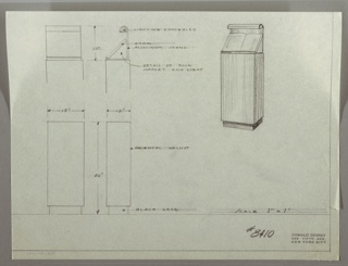 Drawing, Lectern-Bookstand with Light, 1930s