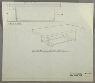 Drawing, Table, Dining, 1930s