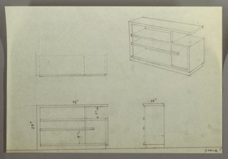 Drawing, Shelves and Cabinet Unit, 1930s